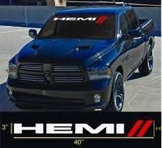 Hemi 40 Charger Challenger Front Windshield Window Banner Decal Sticker Dodge R Ebay