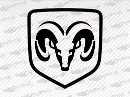 Dodge Emblem Ram Decal Stickers