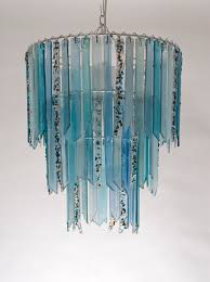 stylish recycled glass chandelier