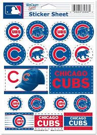 Amazon Com Wincraft Mlb Chicago Cubs Vinyl Sticker Sheet 5 X 7 Sports Fan Sports Stadium Seats And Cushions Sports Outdoors