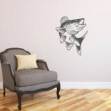 Decals Stickers Vinyl Art Fly Fishing Lake Pond River K660 W Fisherman Walleye Fish Vinyl Wall Decal Netpackmdz Com Ar