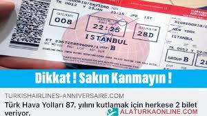 THY'den sahte bilet ve anket uyarısı ! THY 87. yıl Bileti Vermiyor ...