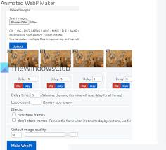 how to create animated webp images