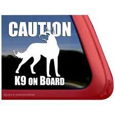 Caution K9 Onboard Belgian Malinois Adhesive Vinyl Dog Window Decal Walmart Com Walmart Com