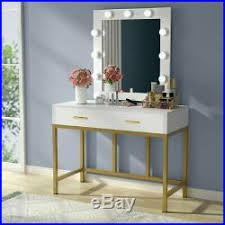 tribesigns makeup vanity table set with