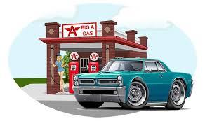 1965 Gto Gas Station Wall Decal Pontiac Car Wall Decal Etsy
