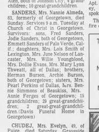 Nannie Sanders obit - Newspapers.com