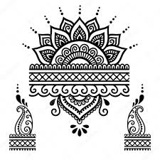 Henna Tattoo Flower Template Mehndi Stock Vector C Rugame Tera