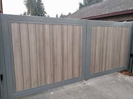 Steel Frame With Wood Effect Plastic Inserts Nesa Swing And Sliding Gates And Fencing Nesa