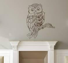 Amazon Com Owl Wall Decal Vinyl Art Decoration For Center Piece Home Decoration Living Room Or Kid S Bedroom Decor Handmade