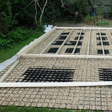 build a shed base with paving slabs