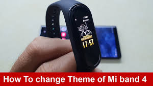 how to change theme of mi band 4 you