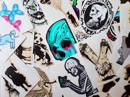 Set Of 26 Vinyl Stickers Gothic Vinyl Stickers Gothic Stickers Skull Stickers Ebay