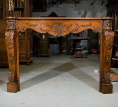 louis xv style carved fireplace mantle