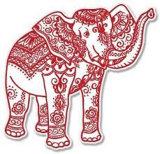 Amazon Com Ak Wall Art Elephant Henna Red Vinyl Sticker Car Phone Helmet Select Size Home Kitchen