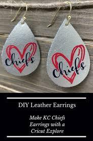 chiefs leather earrings diy in 2020
