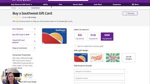 southwest gift cards at a
