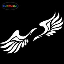 Hotmeini Car Sticker Jdm Decoration Sacred Art Angel Wings Window Bump 2018 At 142 30 Animetee Com Sbra