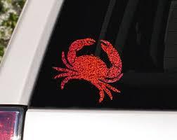 Crab Car Decal Etsy