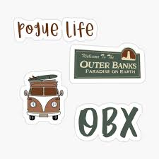 Outer Banks Pack Sticker By Gail Snail In 2020 Outer Banks Print Stickers Printable Stickers