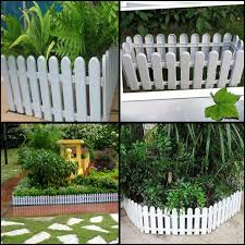 plastic fence fence fence garden flower