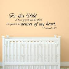 1 Samuel 1 27 Child Quote Wall Decal Etsy