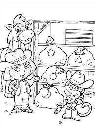 Kleurplaat Dora De Explorer 93