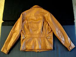 deerskin half belt jacket