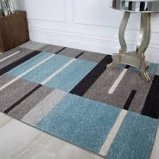 teal blue grey patchwork living room