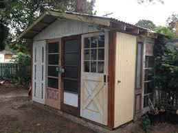 recycled door garden shed