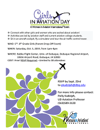 RSVP by Sept. 23rd to pkadolph@dbq.edu For more info please contact: Polly  Kadolph, UD Aviation Professor (563)589-3120