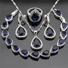 blue sapphire jewellery set