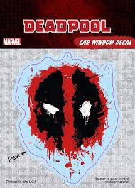Deadpool Splatter Logo Decal Marvel Comics Car Window Decal