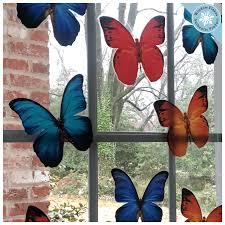 Anti Collision Window Clings Prevent Window Bird Strikes 8 Butterflies Window Flakes