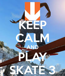 keep calm and play skate 3 poster