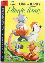 TOM & JERRY PICNIC TIME #1 VF DELL GIANT Silver Age Comic Book 1958 for  sale online