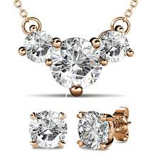 brilliant necklace and earrings set