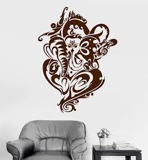 Vinyl Wall Decal Ganesha India Elephant Ornament Art Stickers Mural Un Wallstickers4you