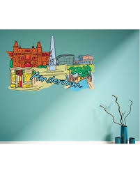 New Bargains On Famous City Vinyl Wall Decal Famouscityuscolor008 72 In