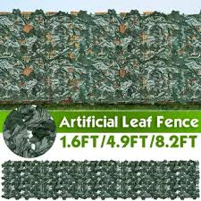 Artificial Leaf Fence Screen Privacy Plant Leaves Wall Hedge Grass Garden Decor Lazada Ph