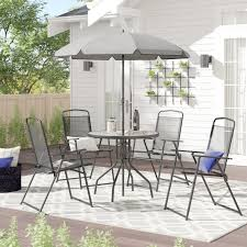 this dining set with an umbrella so you