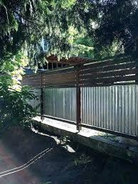 how to build corrugated metal fence