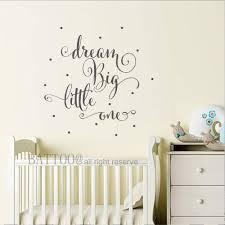Dream Big Little One Vinyl Wall Decal Nursery Decor Girl Or Boy Bedroom Decor