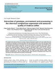 interaction of genotype environment
