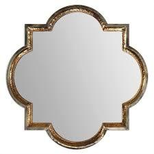 uttermost lourosa hammered metal mirror