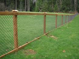 Nice Way To Dress Up The Typical Chain Link Fencing Hog Wire Fence Backyard Fences Fence Options