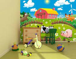 Photo Wallpaper Animals Farm Kids Room Wall Mural 254x183cm For Baby Bedroom For Sale Online