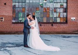 early summer wedding in downtown st