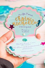 Mermaid Invitations Shell Little Mermaid Handmade Invitation