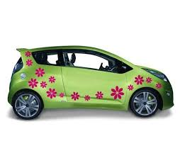 Flowers Car Decal Style And Apply